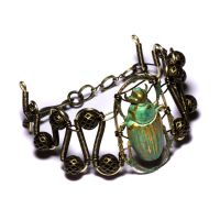 Steampunk Scarab Bracelet by CatherinetteRings