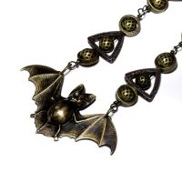 Steampunk Bat Necklace 1 by CatherinetteRings