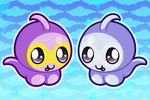 Chibi Castform + Shiny Castform by lumalyssa
