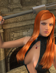 Warrior in DAZ3D by Rox-Lare
