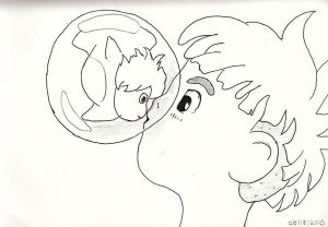Ponyo Lineart by SniffNSketch