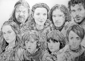 Game Of Thrones House Stark by PortraitLc