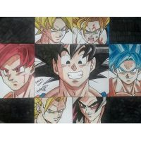 ALL GOKU PHASES by Arturfg