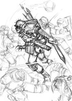 Blood Tide full page sketch by TD-Vice