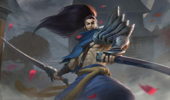 League of Legends Yasuo Fanart by Rosolino