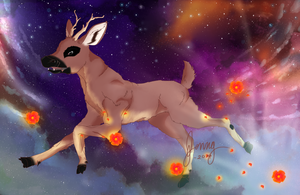 Elk in Space, is a Dandy Elk...in space by Magikapple