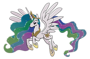 Princess Celestia Chrome by DuskBrony