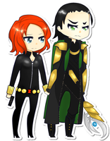 Loki and Natasha by Lmeiije