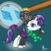 Detective Rarity by givemesomebrohoof
