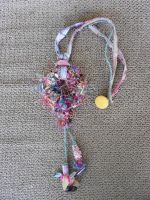 Crochet And Cord Necklace by Vestia-the-Fallen