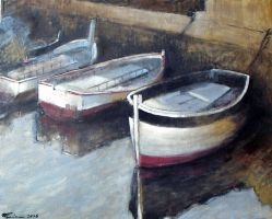 (Boats) oil paint by Boias