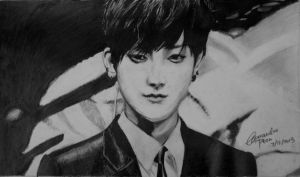 EXO TAO (pencil drawing) by CassPoon