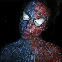 Spider-Man body paint :) by lgoresfx