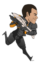 ME2 - Shepard by SuperKusoKao