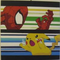 Spiderman vs Pikachu by Will1885
