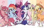 Mane Six Poster by Famosity