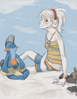 Day at the Beach by Kolala-Bear