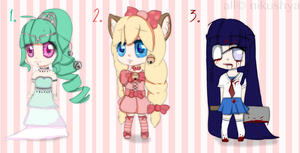 .chibi adoptable batch. by nikushya1