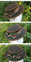 Nature's Harvest Mini Boater Hat by ImperialFiddlesticks