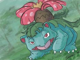 Selkie Draws the Dex: #003 Venusaur by selkie-gal