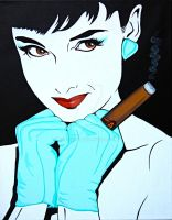 Audrey With Cigar by Paul5252