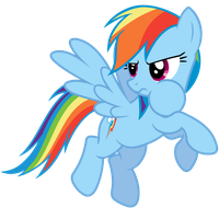 Rainbow Dash Vector - NO! That's mine! by Anxet