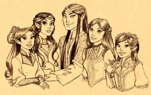Cosmos and His Girls by GingerOpal