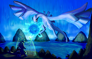 Lugia used Aeroblast by shinyscyther