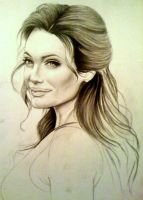 Angelina Jolie - Unfinished by artistelllie