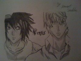 L or Ryuzaki VS Light or Kira from Death Note by captonstu