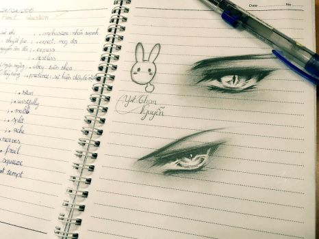 Drawing on the bus : Eyes Ver. by YoungChanNguyen