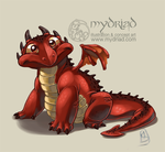 Little red dragon by Mydriad