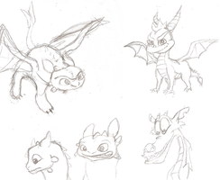 Random Sketchdump 2 Dragons by Maddyfae