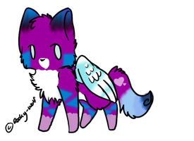 Adoptable Winged Cat - CLOSED by xNeverEndingRain