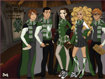 The Hogwarts Lineup by Chrissiannie