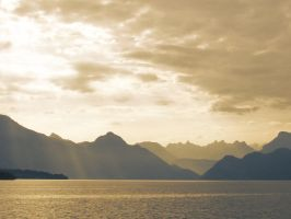 Switzerland Sunset by DarkAngeLP26