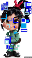 Glitching ((GIF)) by WDisneyRP-Vanellope