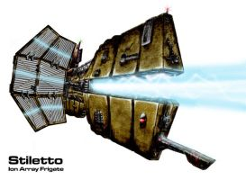 Stiletto Ion Array Frigate by Progenitor89