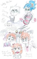 my OCs with some Nicktoons by Kittychan2005