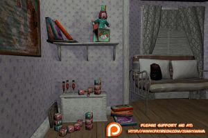 Far Cry 3 - Dr. Earnhardt's daughter's bedroom by junkymana