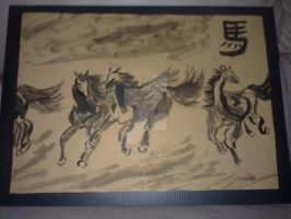 chinese painting - Racing horse by ravencross14