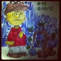 Napkin Art #98 - Good Grief - A Charlie Brown Xmas by PeterParkerPA
