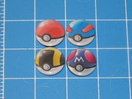 Pokeball Badges 1 by PaperCadence
