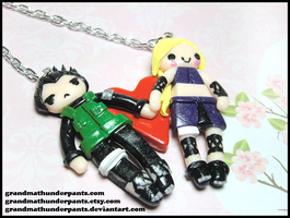 Shika/Ino Necklace by GrandmaThunderpants