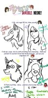Emerald Tiger12 and DemonWolfster MEME by Emerald-tiger12