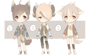 OPEN AUCTION: COLLAB AGAIN 272-274 by Tochi-Adopts