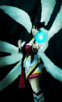 leauge of legend ahri the nine tailed fox by CosPlayJG