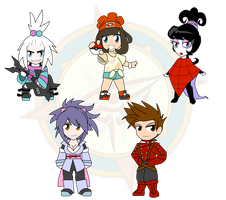 Assorted Chibis - Tales of Pokemon by Dragon-FangX