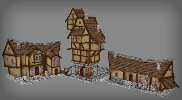 Lowres houses by NatteRavnen