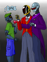 Meeting Daft Punk Colored by Dragon-Of-Sapphire